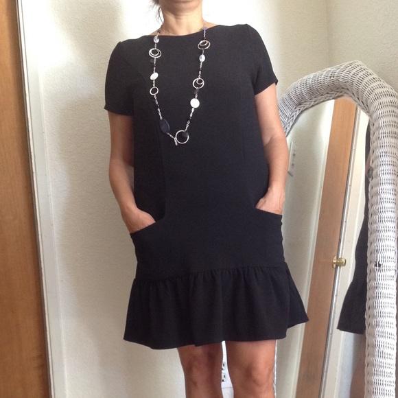 Petite Black Shift Dress